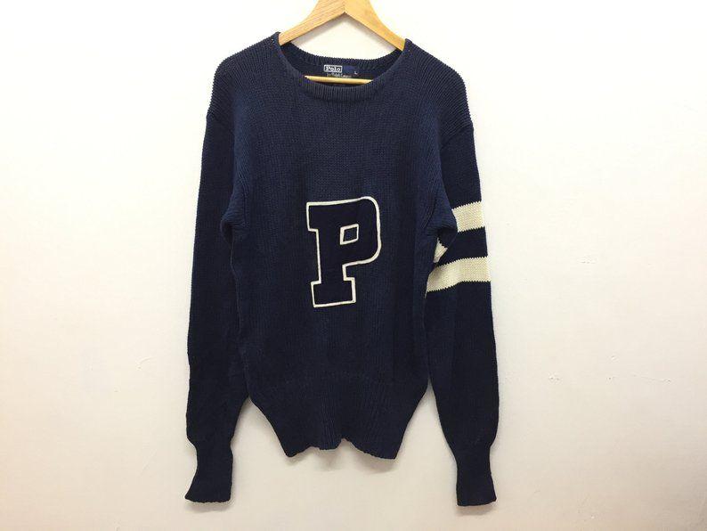 3407c34ee0dd2 RARE!! Vtg 90's Polo by Ralph Lauren P Logo knitwear K swiss Polo ...