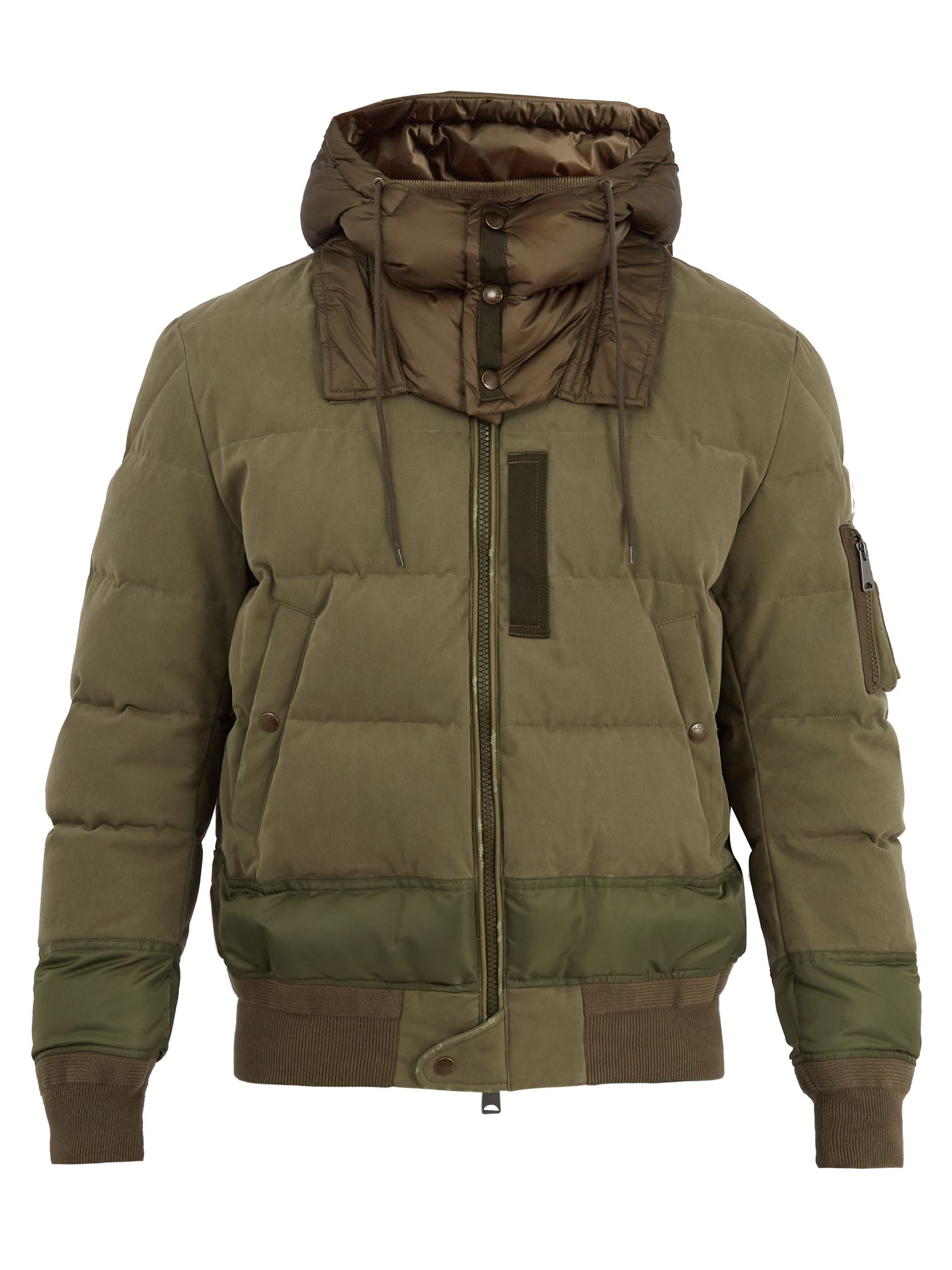 83dfb247e62f MONCLER LEOPOLD HOODED STRETCH-COTTON BOMBER JACKET.  moncler  cloth ...