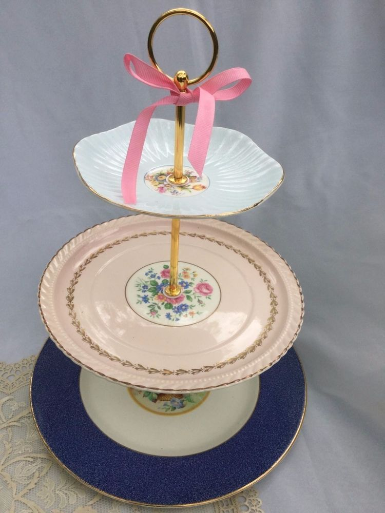 French cafe 3 tier serving tray wedding cake stand baby