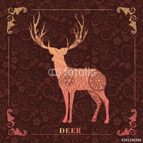 Vector: DEER,decorative picture