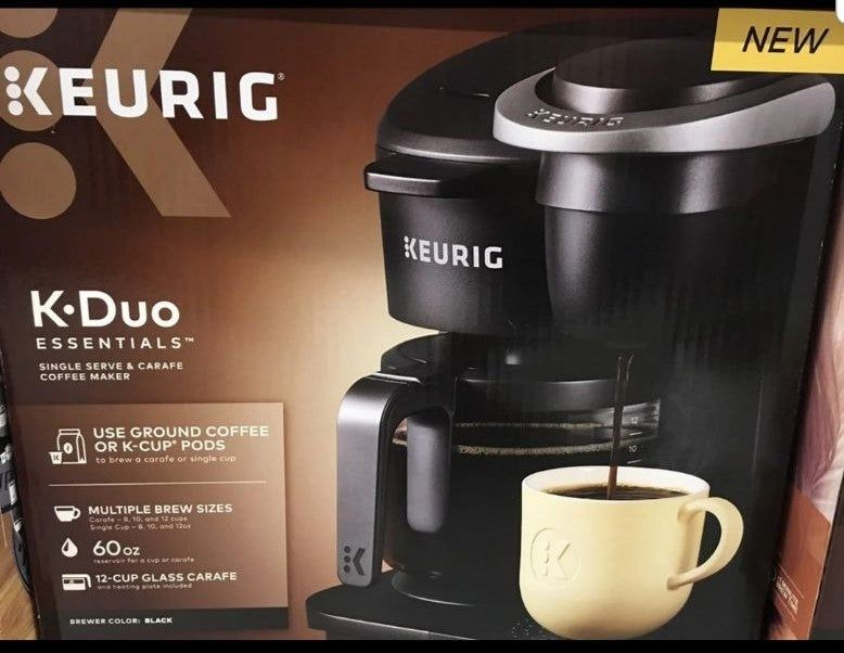Keurig Duo Coffee Maker What S In The Box 12 Cup Glass Carafe Included With Your Brewer Along With A Heating Plate Coffee Maker Keurig Keurig Coffee Makers