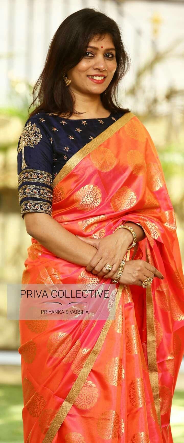 Saree blouse design pattu deepa menon palakkad on pinterest