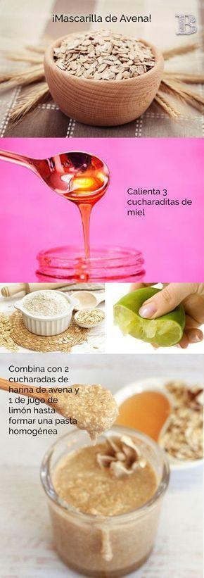 Mascarilla de avena y limon para aclarar la piel