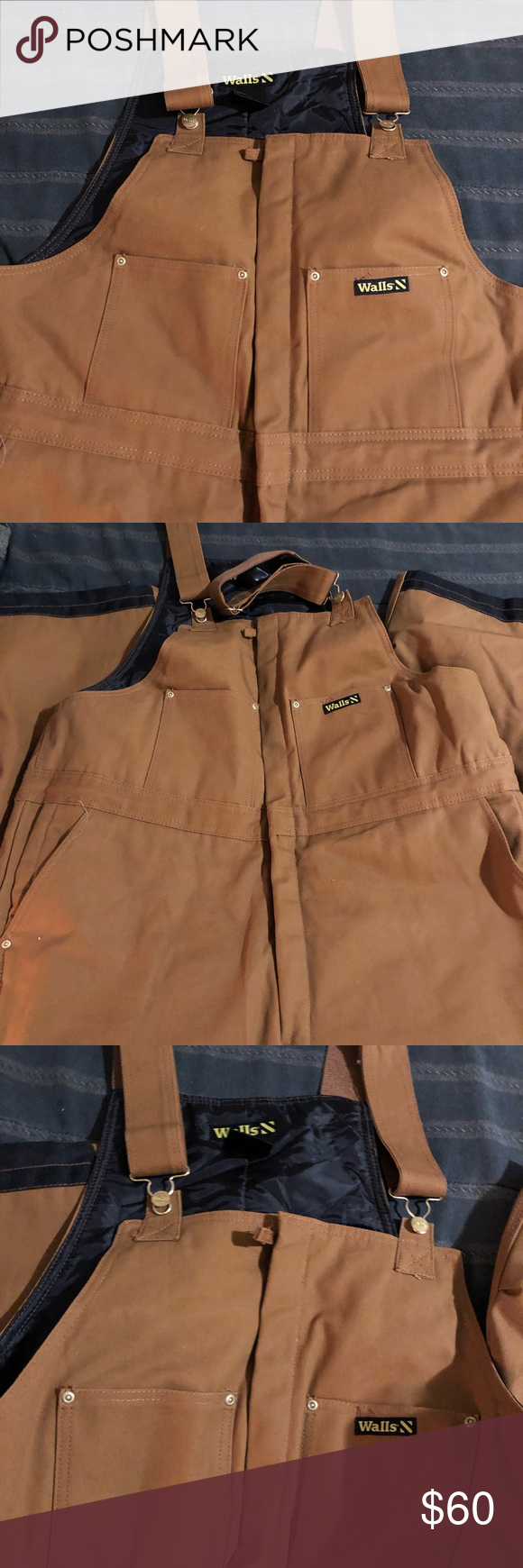 walls extreme weather insulated bib overalls 2xlr nwot on walls workwear insulated coveralls id=16545