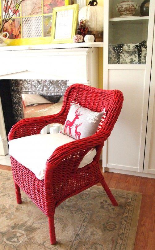 Gentil Red Wicker Chair
