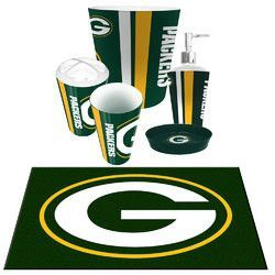 Green Bay Packers Nfl 6pc Bath Accessories Set With Images
