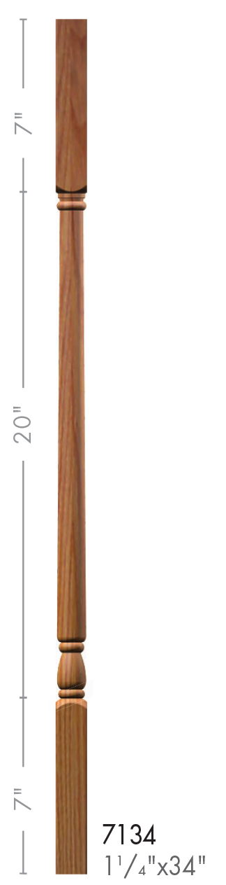 Best 7134 Colonial Style Square Top Baluster Wood Balusters 400 x 300