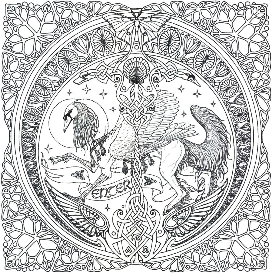 Complicated Coloring Pages For Adults Free To Print Mandala Coloring Pages Animal Coloring Pages Celtic Mandala