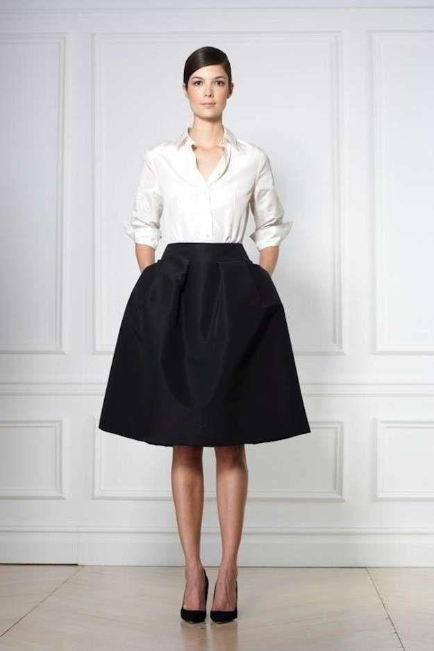 Faldas años 50  Fotos de los modelos - Carolina Herrera falda midi ... fc19110717d5
