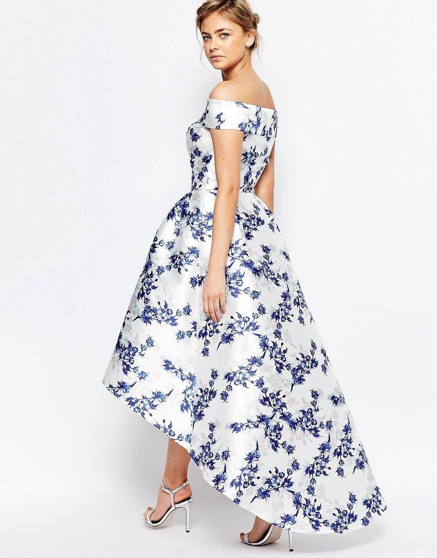 Chi Chi London Extreme High Low Printed Midi Dress At Asos Com Asymetrical Dress Midi Dresses Uk Homecoming Dresses Long