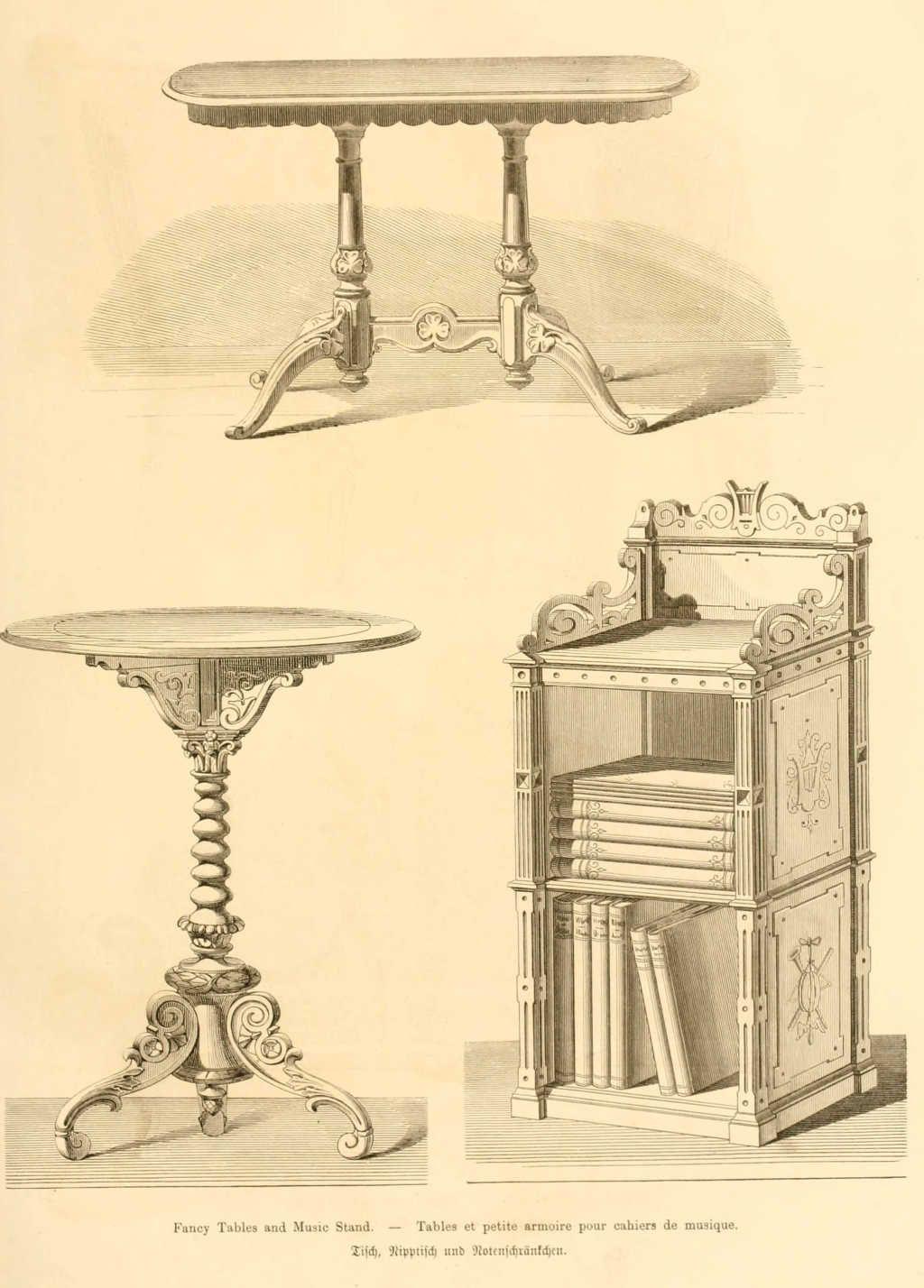 Img Dessins Meubles Mobilier Tables Et Petite Armoire Pour Cahiers  # Meuble Dessin Ancien