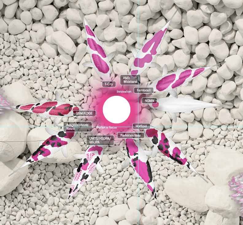 Brand Deutsche Telekom Project Virtual Koi Pond Job Interface Concept Design Stone Gardening Suiseki Client Q Bus Contact Picnicindustr Telekom