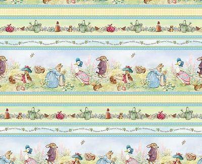 Details about dollhouse miniature blue beatrix potter - Peter rabbit nursery border ...