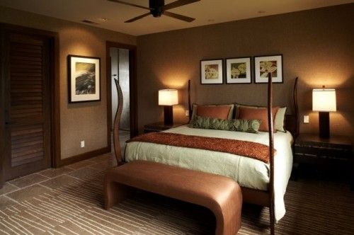 Benjamin Moore Saddle Brown Wall Color Paint Color - Bedroom colors for good night sleep