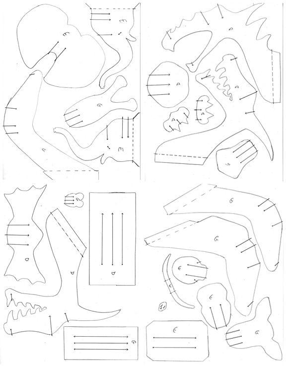 Paper & Cardboard Elephant, Giraffe & Dragon   Make it!   Pinterest ...
