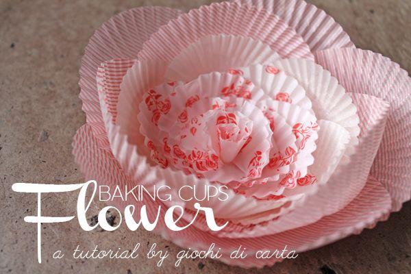 giochi di carta silvia raga: giochi di carta #27 baking cups flower diy