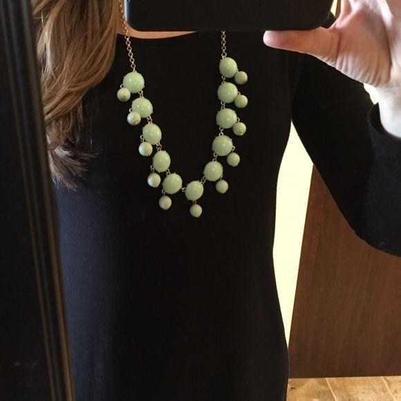 Mint bubble necklace Mint bubble statement necklace. Silver chain. Jewelry Necklaces