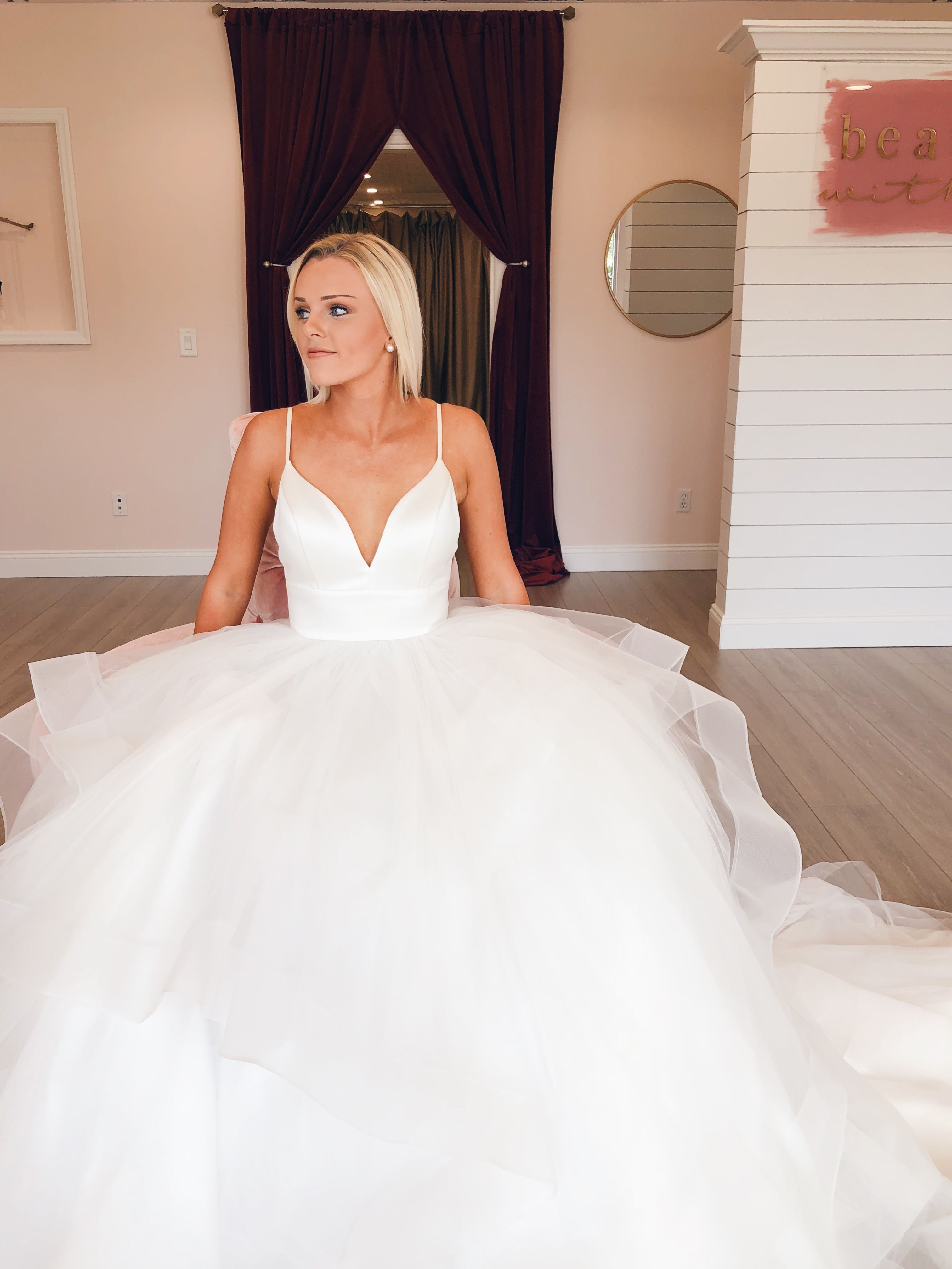 Brides love the clean but dramatic look of the Tatum dress by L ...