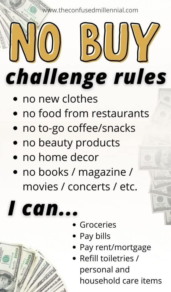 No Buy Challenge: How To Successfully Save Money -