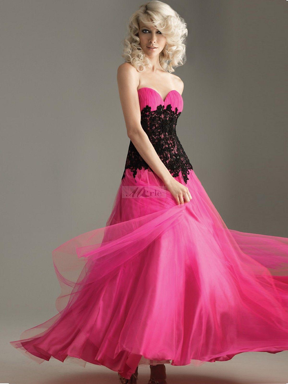 Fashion aline sweetheart lace sleeveless floorlength tulle dresses