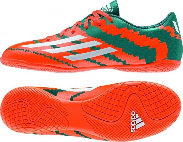 2a8ab77dd2 Adidas Messi 2015 10.4 IN Power B40069 White   Solar Orange Futsal Indoor  Soccer  Adidas