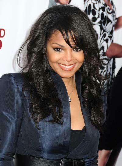 Janet Jackson Hairstyles With Bangs Medium Hairstyles Thick Hair Styles Wig Hairstyles Hair Styles