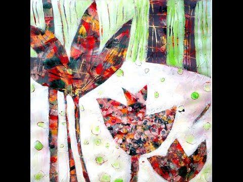 Acrylic painting - Lucky Spring / Acrylmalerei - fröhlicher Frühling - YouTube