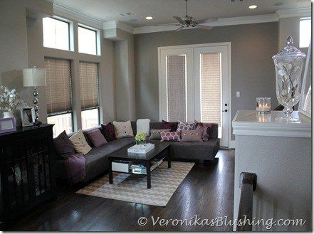 A Painted House Grey Walls Living Room Formal Living