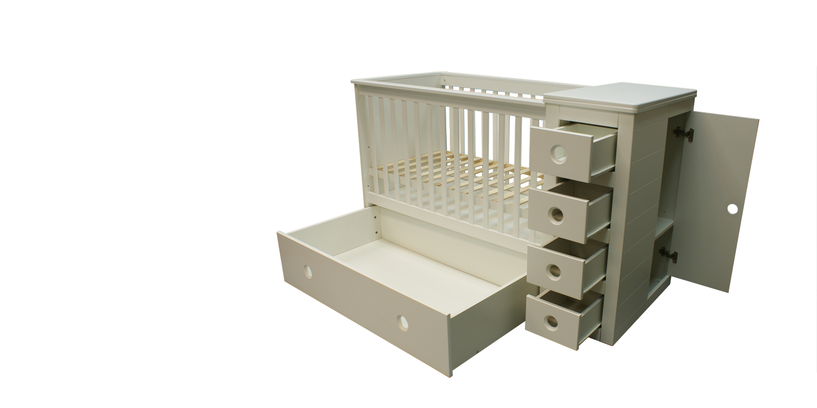 3 in 1 Cot Bed Changing Table Chest Of Drawers Cot