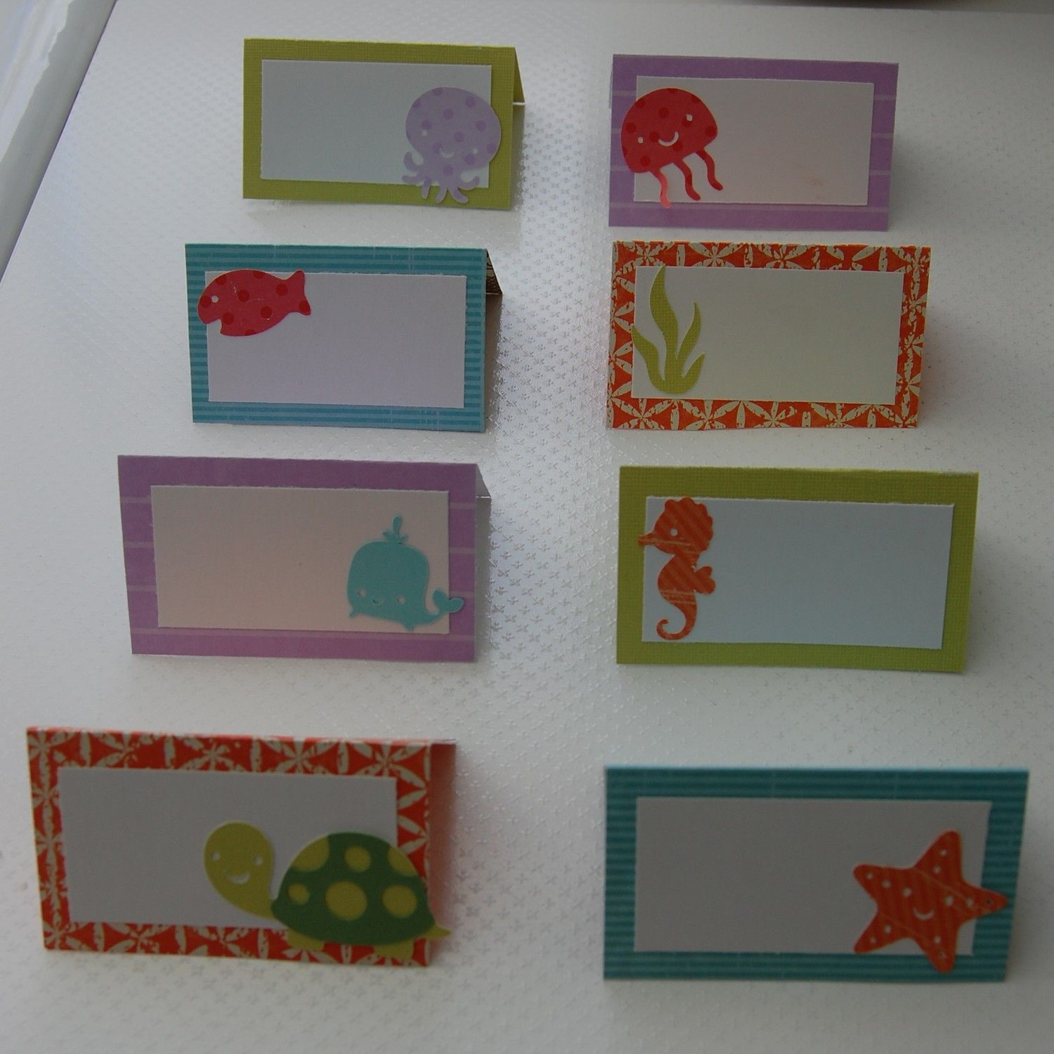 under the sea  ocean food labels    place cards