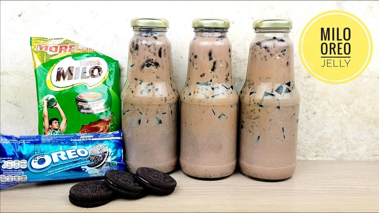Milo Oreo Jelly Drink How To Make Jelly Drink Summer Business Youtube Coffee Jelly Recipe Filipino Food Drinks Dessert Oreo Drink