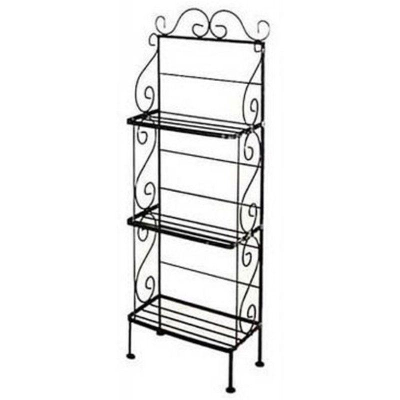 3 Shelf Medium Scrolls Bakers Rack - 243LA- | Products | Pinterest ...