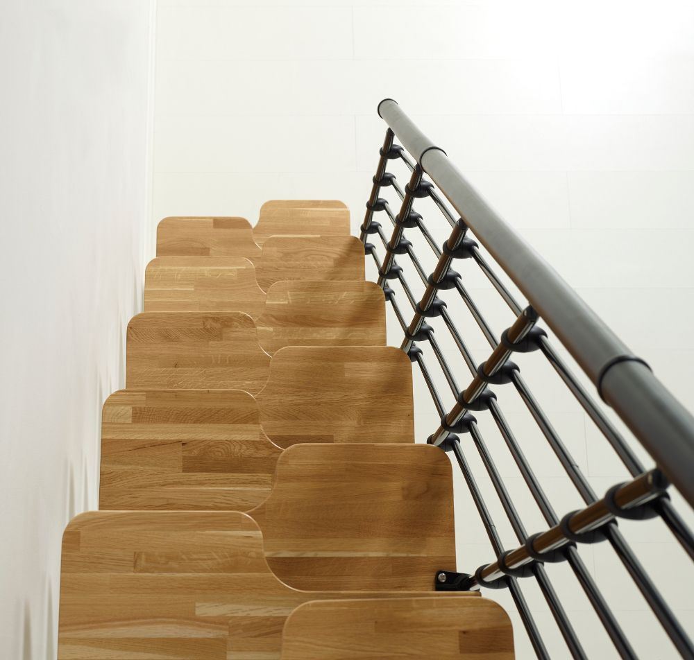 Oak30 staircase kit from Arkè, Inc, with natural wood ...