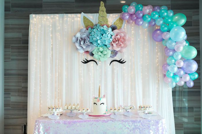 Pastel Glam Unicorn Birthday Party | Kara's Party Ideas