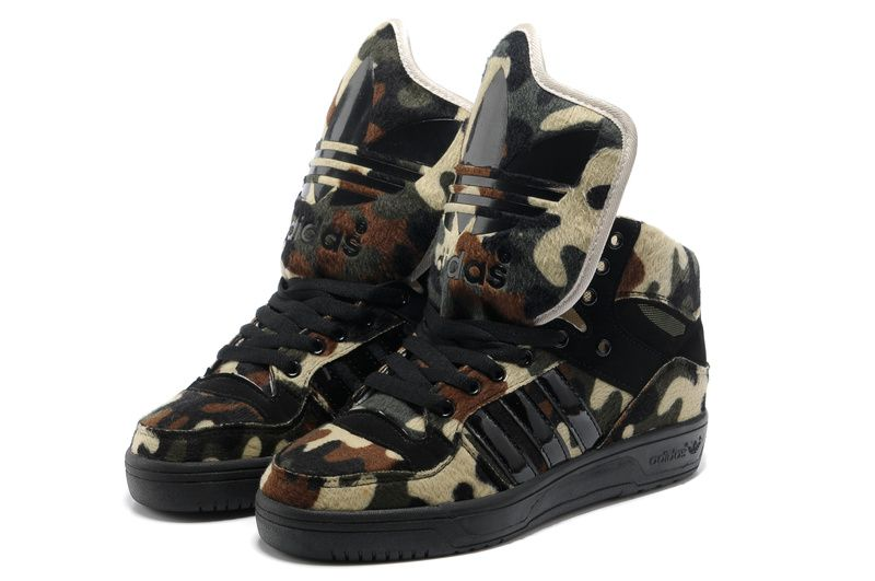 Fast Shipping To Buy Adidas X Jeremy Scott Big Tongue Camo Shoes Sale Online