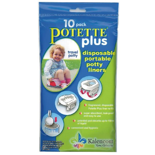 Disposable Portable Potty Chair Liners Potette Plus 10 Pk Portable Potty Travel Potty Potty Chair