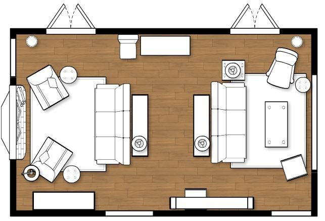 Hard to layout living room home furniture layouts - Living room furniture layout planner ...