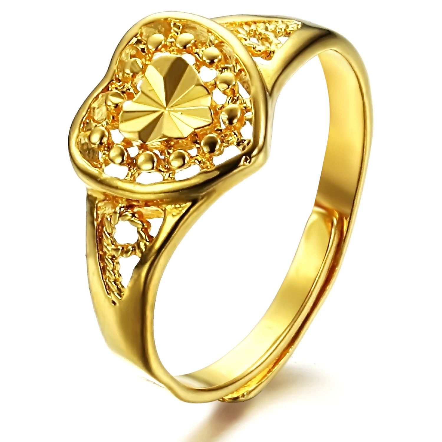 gold rings Heart Rings Pinterest