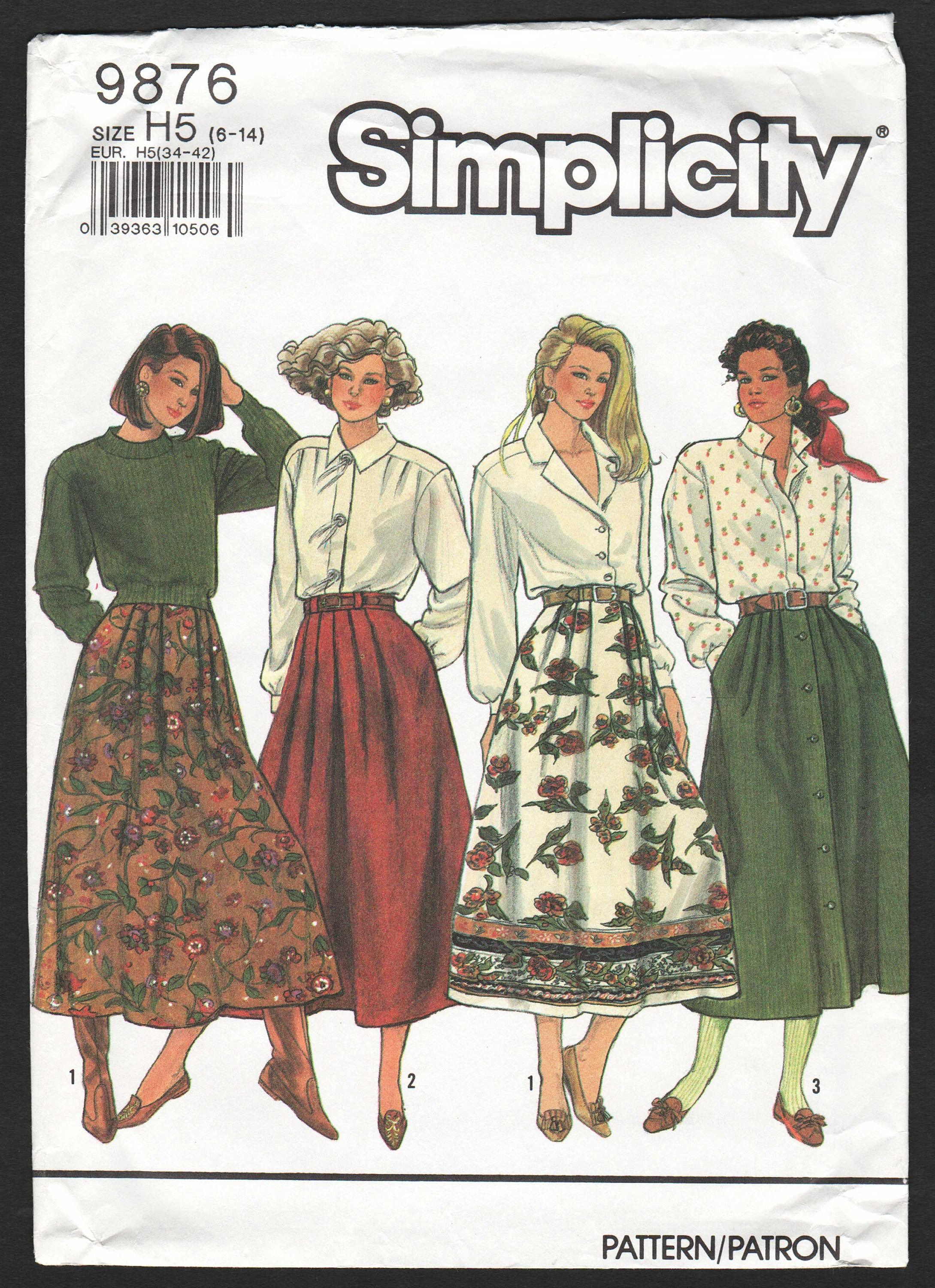Long flared skirt pattern pleated waist maxi skirt s sewing