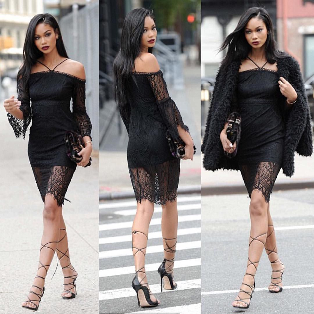 Fur vests, black dresses, and above the