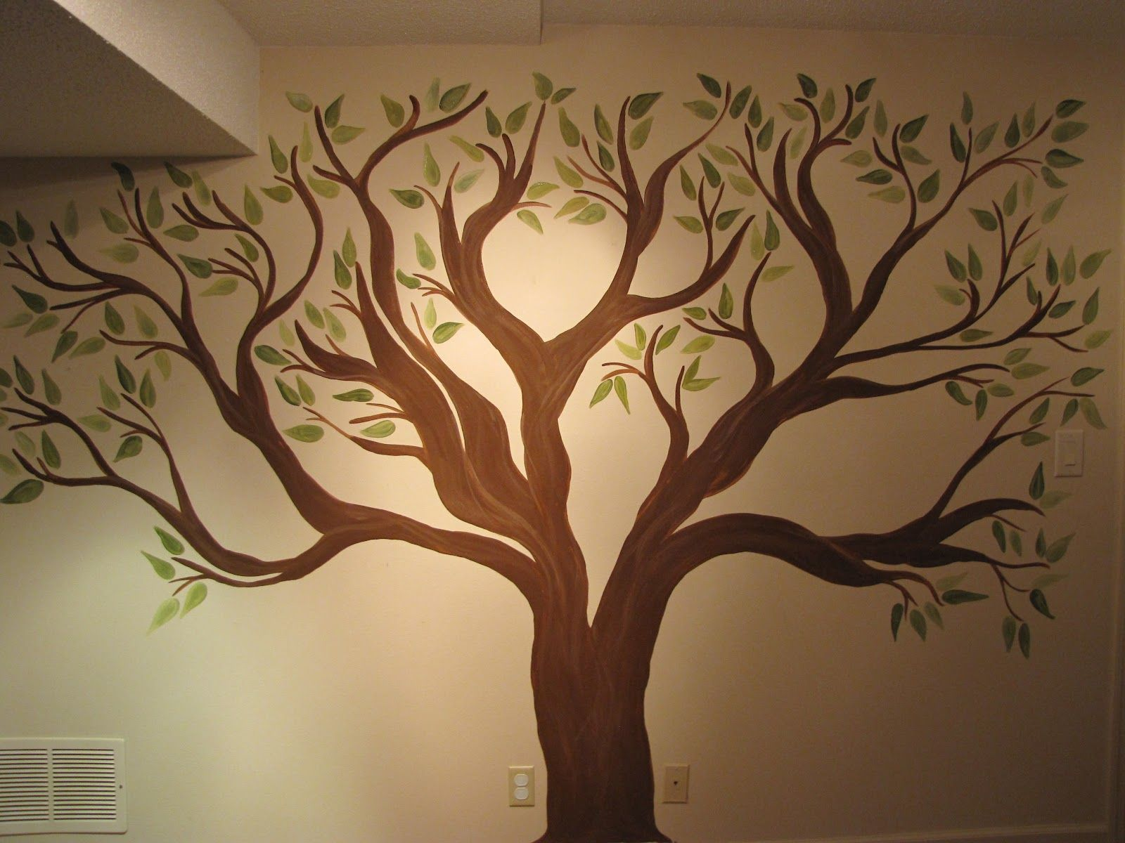Family Tree Wall Stencil | ... While Ago To Do A Family Tree Mural Part 20