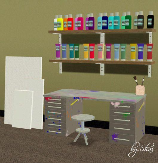 Christmas Decorations On Sims 3: .: Shai Art -- Art Clutter Set.