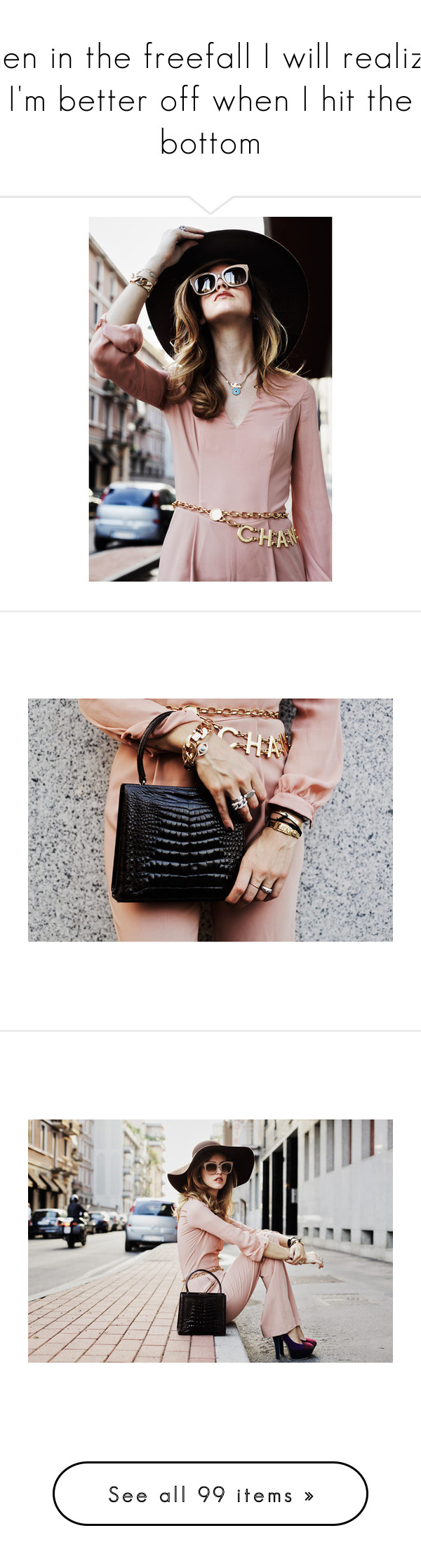 """Then in the freefall I will realize, I'm better off when I hit the bottom"" by brownish ❤ liked on Polyvore featuring brown, caramel, models, people, backgrounds, photos, pictures, details, girls and pants"