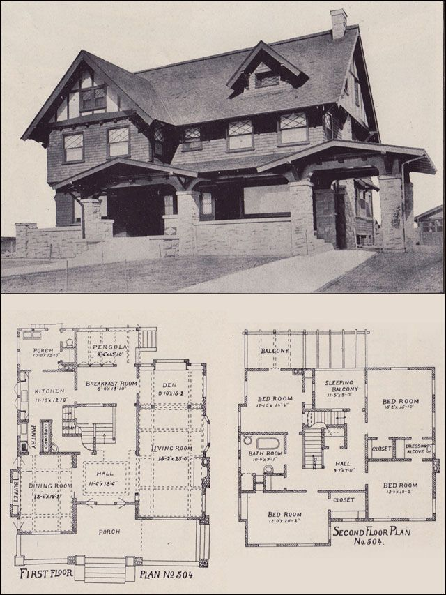 1912 California Arts Crafts Style Los Angeles Investment Company Ernest Mcconnell Architect Craftsman House Plans Craftsman House Vintage House Plans