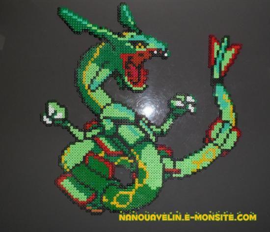 Perle Hama Pokemon Rayquaza Pixel Art Beading Patterns