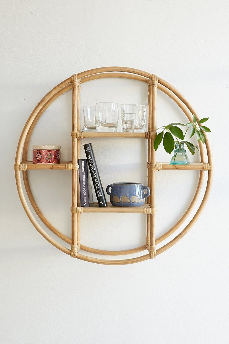 Magical thinking rattan circle shelf urban outfitters for the