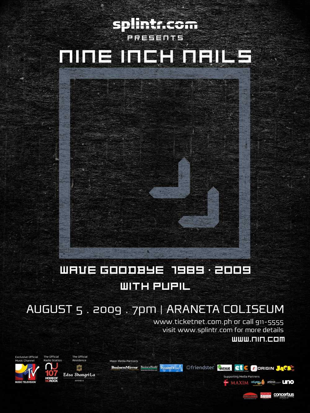 Nine Inch Nails Poster   nin   Pinterest   Trent reznor and Music ...