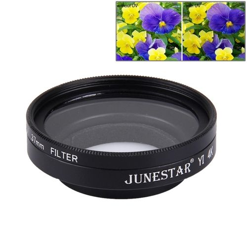[$4.45] JUNESTAR for Xiaomi Xiaoyi Yi II 4K Sport Action Camera Proffesional 37mm UV Filter + Lens Protective Cap