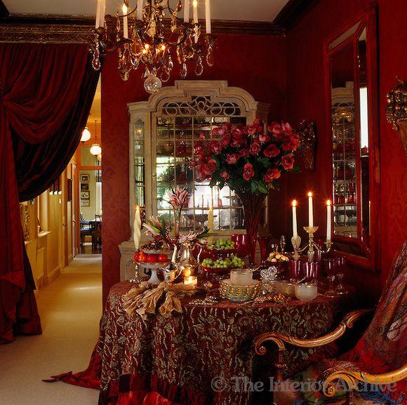 Stephanie Inn Dining Room: The Use Of Sumptuous Textiles Such As The Velvet Curtains