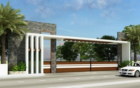 Township entrance gates singapore google search sikka for Main entry gate design